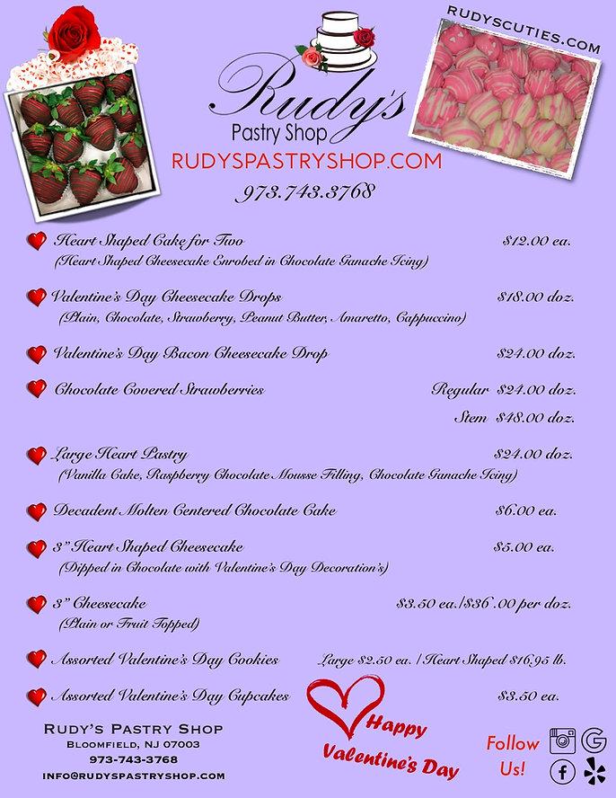 Rudy's Valentine's Day Specials 2019 Pur