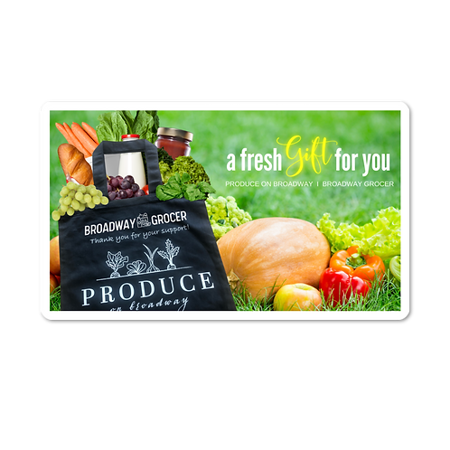 Produce on Broadway Gift Card