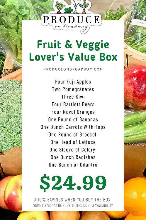 Fruit & Veggie Lover's Value Box
