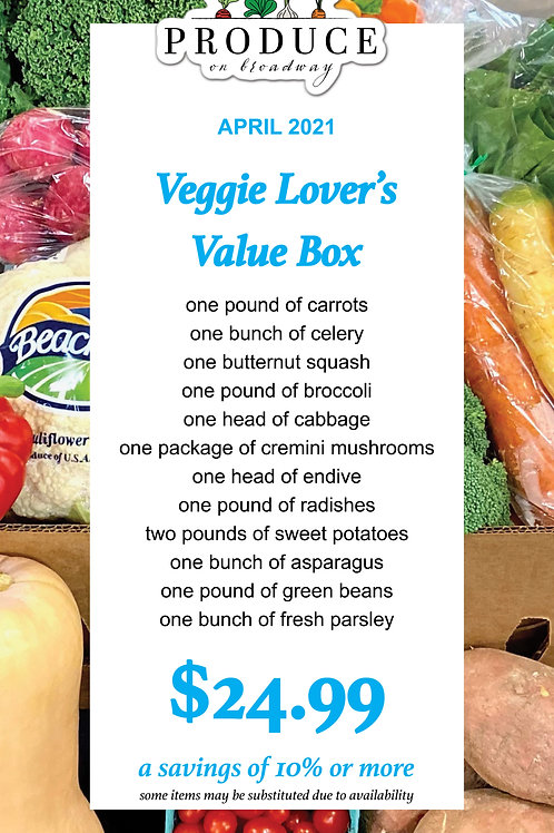 Veggie Lover's Value Box