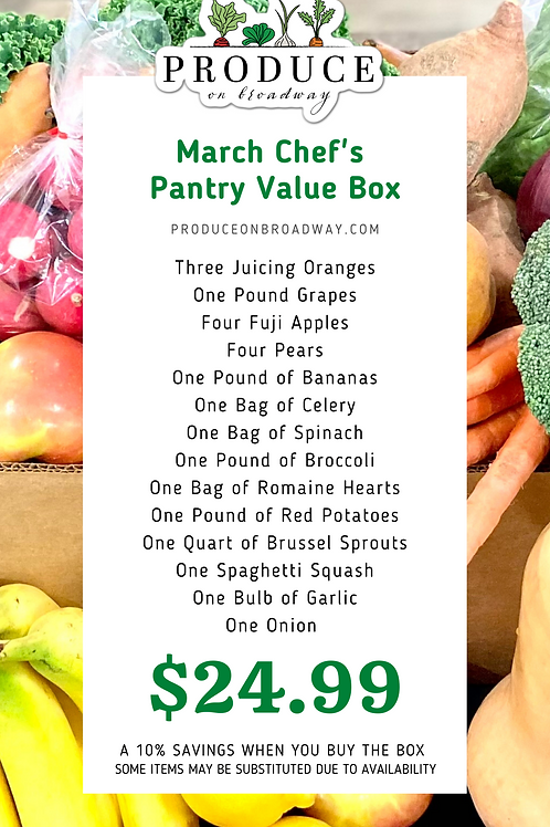 Chef's Pantry Value Box