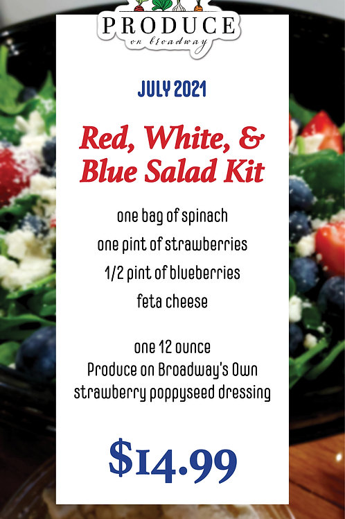 Red, White, & Blue Salad Kit