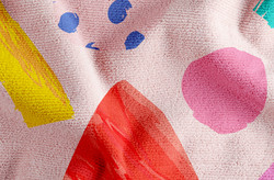 Trykt Pink Håndklæde