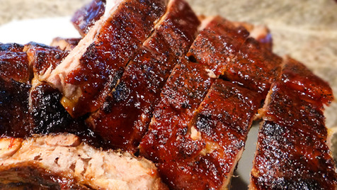 Hot off the smoker ribs