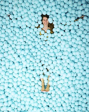 Laura Skinner in Ball Pit