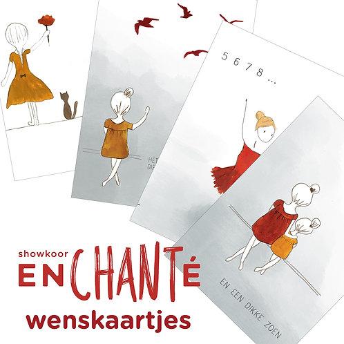 Wenskaartjes 2 pakketjes    (18 stuks)