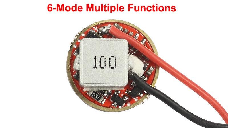 20mm Buck LED/Laser Driver - 3V - 9V - 6-Function - 200mA - 5000mA