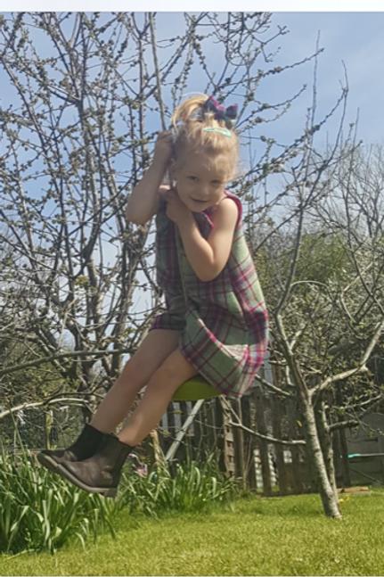 CHILDS PINAFORE DRESS
