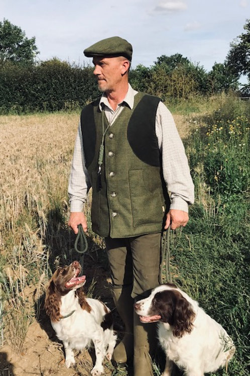 EQUI-STITCH UNISEX TWEED QUILTED SHOOTING GILET
