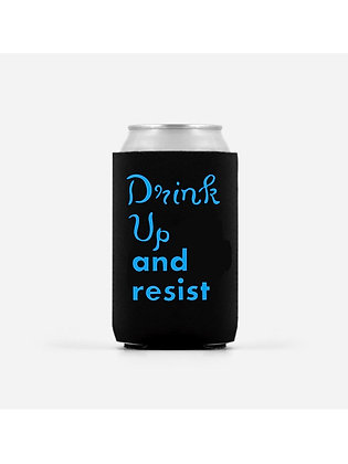 Drink Up and Resist Beer Koozie