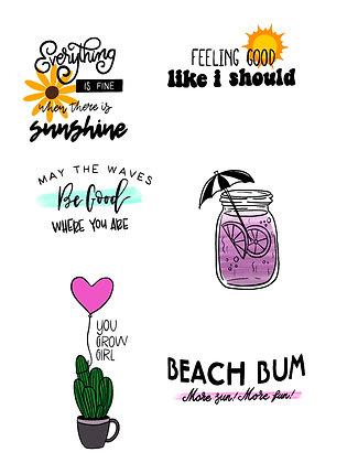 Summer Lovin Sticker Set