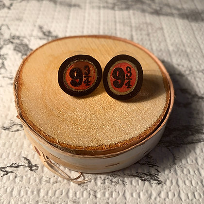 Platform 9 3/4 Stud Earrings