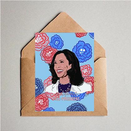 Madame Vice President Greeting Card