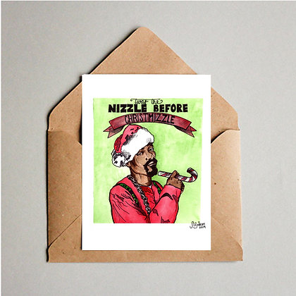 Twas the Nizzle Before Christmizzle Card