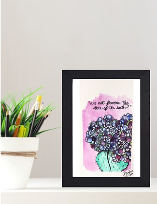 """Original Framed Watercolor """"Stars or the Earth"""""""
