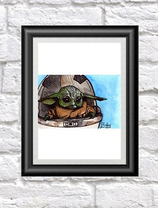 Baby Yoda Print