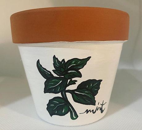 Mint Flower Pot