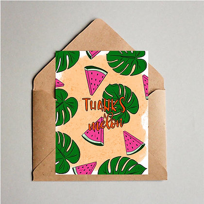 Thanks a Melon Greeting Cards