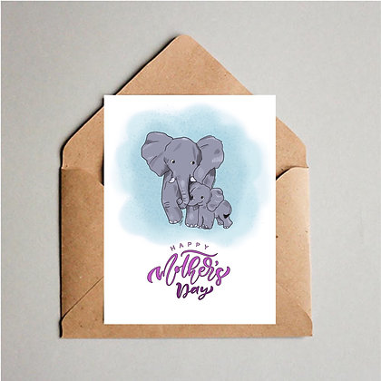 Elephant Love Mothers Day Card