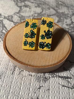 Little Bit Of Luck Wood Earrings