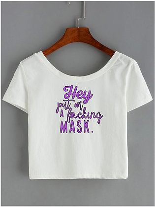 Put on a Mask Crop Top