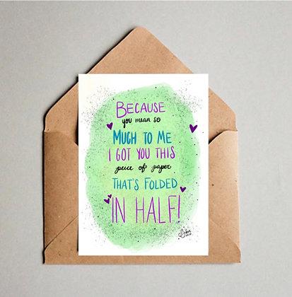 Paper Folded in Half!