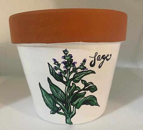 Sage Flower Pot