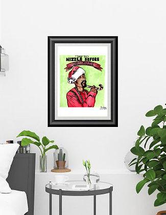 Original Watercolor Snoop Dogg Christmas