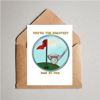 Greatest Dad By Par card
