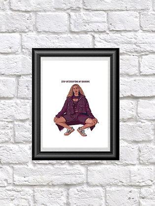 Beyoncé portrait fine art print