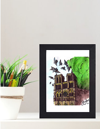 "Original Framed Watercolor ""To Paris With Love"""