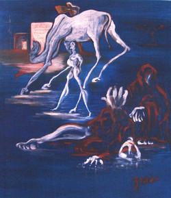 Viandanti - olio su tela- 80x70