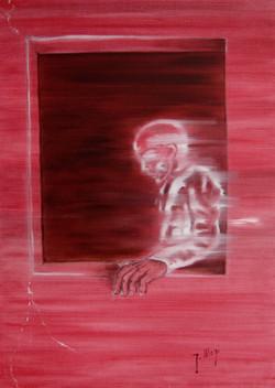 La vita scorre 1 trittico -olio su tela-