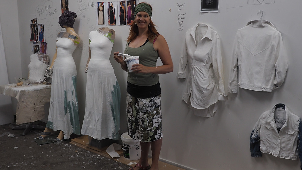 Sonia Richter Vintage Clothing Artist Michelle Obama The Power of Hope Artist Studio Behind the Scenes
