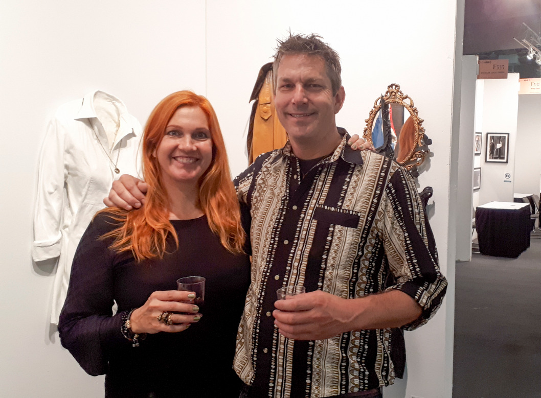 Sonia Richter with brother Eiko Jones at Art Expo NY 2018_edited