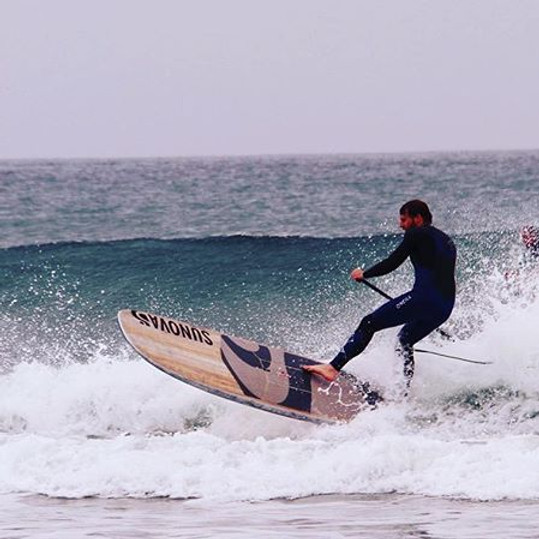 Advanced SUP Surf lessons with Kent Surf School