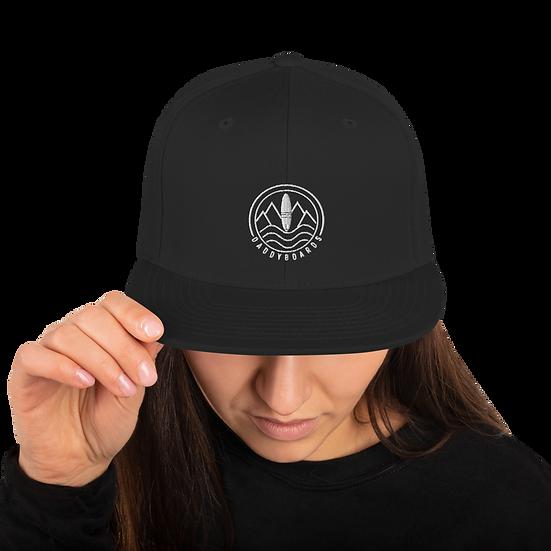 Snapback Hat  - Daddyboards Logo white