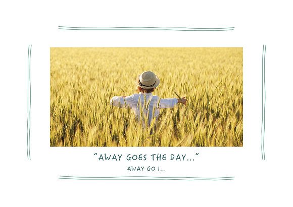 Away Goes The Day (Boy in Yellow Field)