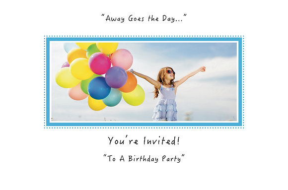 Away Goes the Day (Girl with Balloons-Party Invite Box Set)