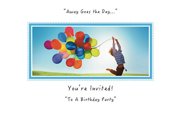 Away Goes the Day (Boy with Balloons-Party Invite Box Set)