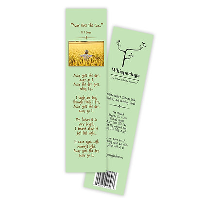 Away Goes The Day (Boy/Yellow Field Bookmark)