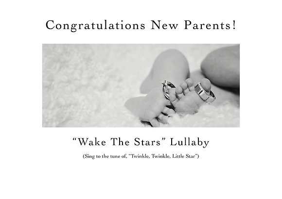 Congratulations New Parents (Rings on Toes-Lullaby Included)