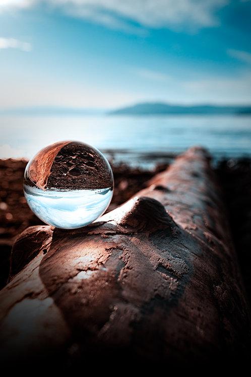 Log Beach Lensball