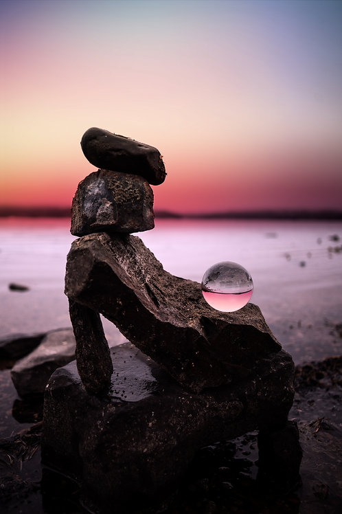 Stacked Lensball Sunset