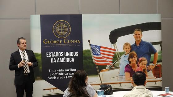 """Evento EB5 em Campinas """"Investir e migrar para os Estados Unidos com foco no Programa EB-5&quot"""