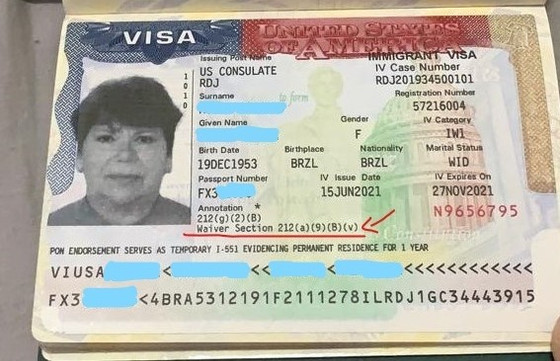 Waiver aprovado e visto IW-1 liberado - Viúva de cidadão americano
