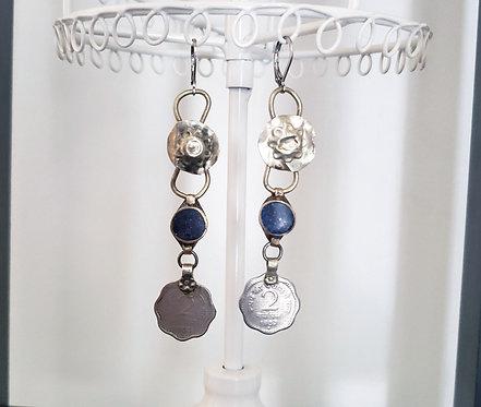 Kuchi Scalloped Coin Earrings