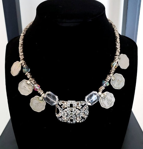 Diamante Coin Necklace Style C