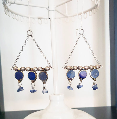 Lapis Lazuli & Sodalite Earrings
