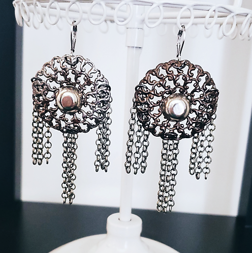 Medallion Filigree Earrings